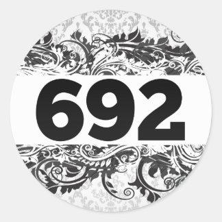692 ROUND STICKERS