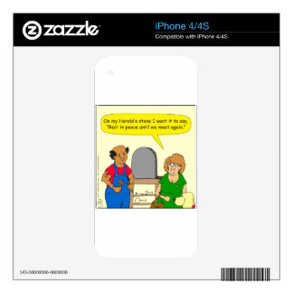 693 Harolds stone RIP cartoon Decals For The iPhone 4