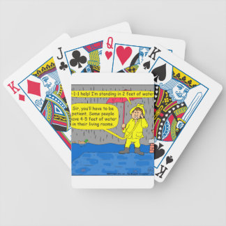694 2 feet of water cartoon bicycle playing cards