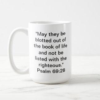69:28 del salmo taza