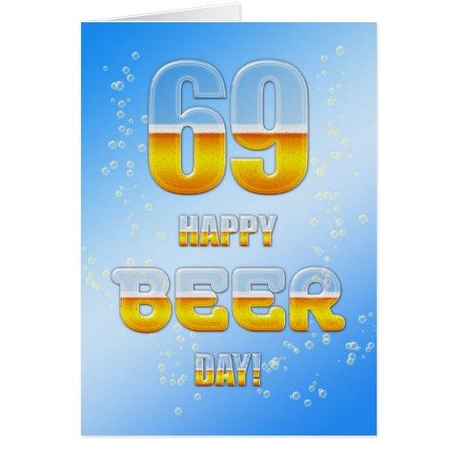 69.a tarjeta de cumpleaños del día feliz de la