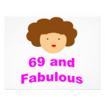 69 and Fabulous! Custom Invitations