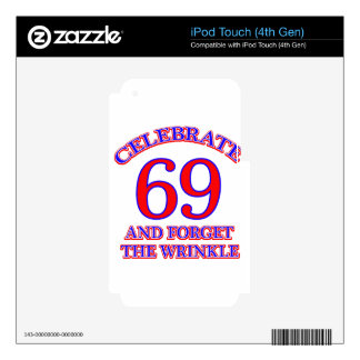 69 birthday design decal for iPod touch 4G