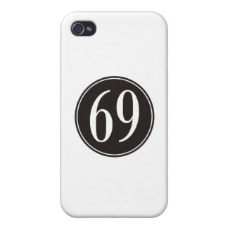 #69 Black Circle iPhone 4 Cover