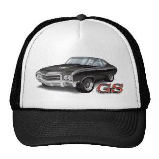 69 Buick GS en negro Gorras De Camionero