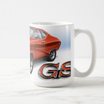 69 Buick GS in Red Coffee Mug