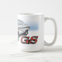 69 Buick GS in White Coffee Mug