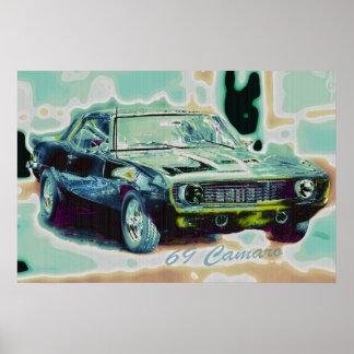 69 Camaro Abstract Poster