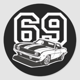 69 Camaro Pegatina Redonda