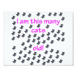 69 Cat Heads Old Personalized Invites