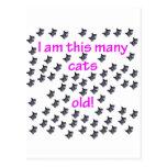 69 Cat Heads Old Postcard