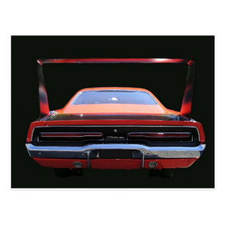 69 CHARGER REAREND POST CARD