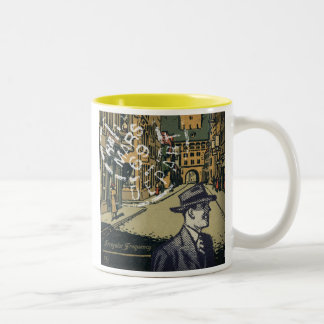 69 Cobble Street Two-Tone Coffee Mug