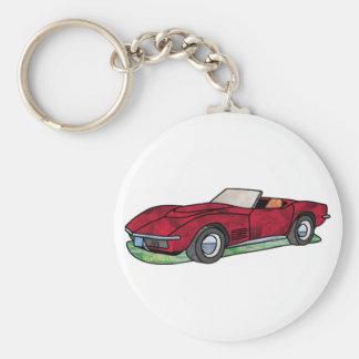 69 Corvette Sting Ray Roadster Keychain