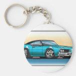 69 Cutlass Teal Blue Keychain