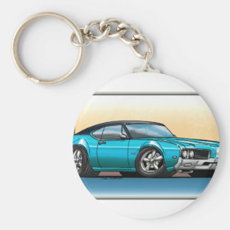 69 Cutlass Teal Blue Basic Round Button Keychain