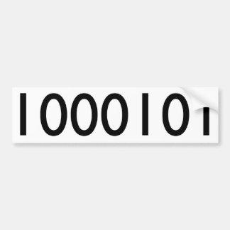 69 en binario pegatina para auto
