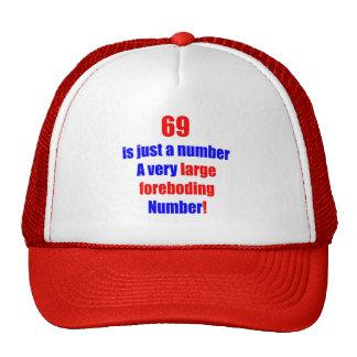 69 es apenas un número gorras