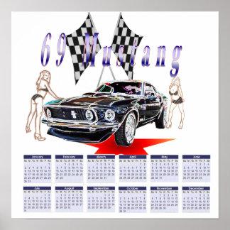 69 mustang,2011 calender print