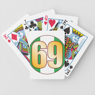 69 NIGERIA Gold Bicycle Playing Cards