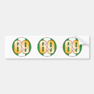 69 NIGERIA Gold Bumper Sticker