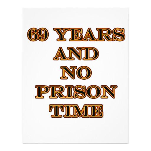 69 ninguna hora de prisión membrete a diseño