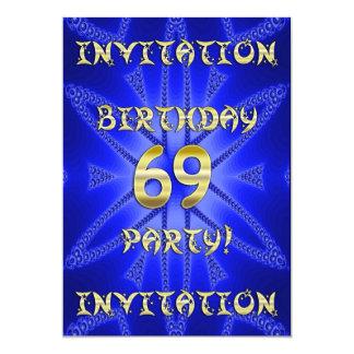 69.o Invitación de la fiesta de cumpleaños