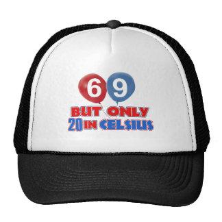 69.os diseños años del cumpleaños gorra