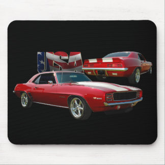 69 red mouse pad