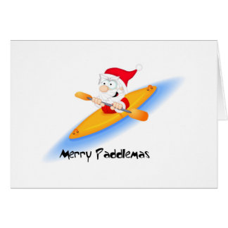 69_santa_paddler greeting card