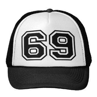 69 sesenta y nueve sesenta y nueve iconos de la gorro de camionero