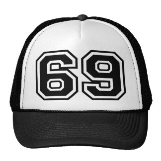 69 sesenta y nueve sesenta y nueve iconos de la mo gorras de camionero