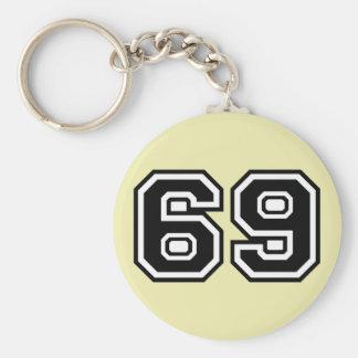 69 Sixty-Nine Sixty Nine Pop Fashion Icon Keychain