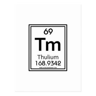 69 Thulium Postcard