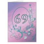 69th Birthday card with diamond stars