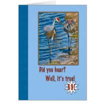 69th Birthday Card with Sandhill Cranes