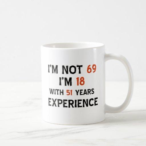 69th birthday designs mugs