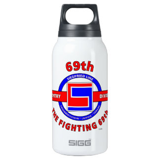 """69TH INFANTRY DIVISION """"THE FIGHTING 69TH"""" 10 OZ INSULATED SIGG THERMOS WATER BOTTLE"""