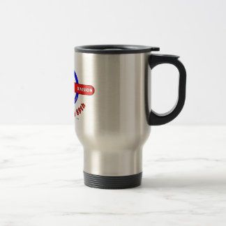 """69TH INFANTRY DIVISION """"THE FIGHTING 69TH"""" 15 OZ STAINLESS STEEL TRAVEL MUG"""