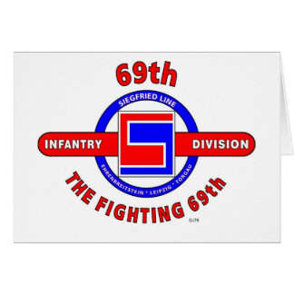 """69TH INFANTRY DIVISION """"THE FIGHTING 69TH"""" CARD"""