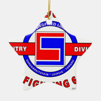 """69TH INFANTRY DIVISION """"THE FIGHTING 69TH"""" Double-Sided STAR CERAMIC CHRISTMAS ORNAMENT"""
