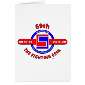 """69TH INFANTRY DIVISION """"THE FIGHTING 69TH"""" GREETING CARD"""