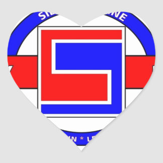 "69TH INFANTRY DIVISION ""THE FIGHTING 69TH"" HEART STICKER"
