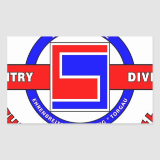 """69TH INFANTRY DIVISION """"THE FIGHTING 69TH"""" RECTANGULAR STICKER"""
