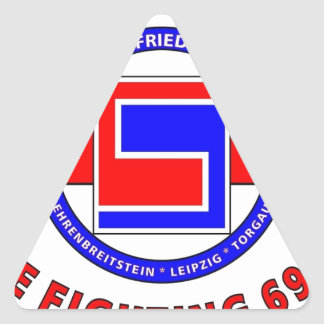 """69TH INFANTRY DIVISION """"THE FIGHTING 69TH"""" TRIANGLE STICKER"""