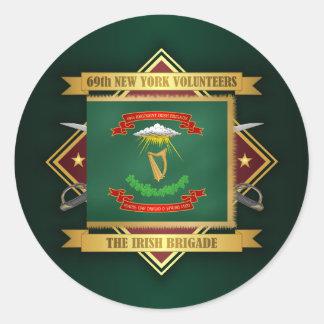 69th New York Volunteer Infantry Classic Round Sticker