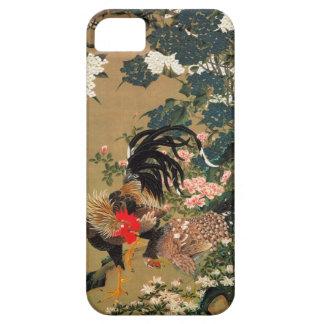 6. 紫陽花双鶏図, 若冲 Hydrangea and Rooster, Jakuchū iPhone 5 Covers