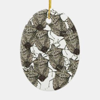 6-07-14 stink bugs rev.png ceramic ornament