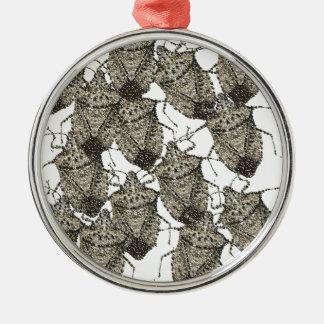 6-07-14 stink bugs rev.png metal ornament