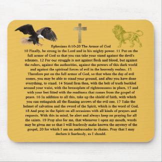 6:10 de Ephesians - armadura 20 de fe de la Alfombrilla De Raton
